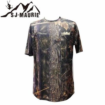 Outdoor Hunting Camouflage T-shirt Men Breathable Army Tactical Combat T-Shirt Quick Dry Sport Camo Camp Tees