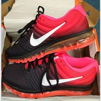 """""""NIKE"""" Trending Fashion Casual Sports Shoes AirMax section black red"""