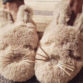 ESBONN Oysho Cute rabbit slippers