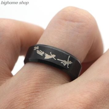 F127 New Punk Style Rings Steampunk US Movie Never Grow Up Peter Pan Ring Man's Gifts Movie Jewelry For Fans Fashion Moive Rings