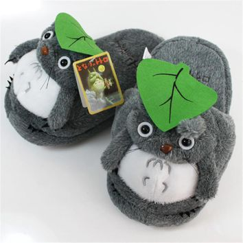 Anime  My Neighbor Totoro  Half Slippers  Plush Shoes Indoor House Winter Fluffy Slippers