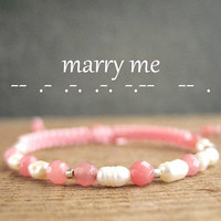 MARRY ME Bracelt,marriage proposal, love message for her, inspiration jewelry, unique engagement ideas, spiritual morse code bracelet
