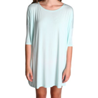 Mint Piko Tunic Half Sleeve Dress