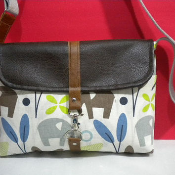 Maycas Daily Messenger Bag with Elephant by maycascollection