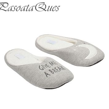 New Cotton Home Slippers Women Indoor Shoes For Girls Ladies Bedroom House Slipper Adu