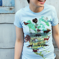 Mid-Century Animal Illustration T-shirt
