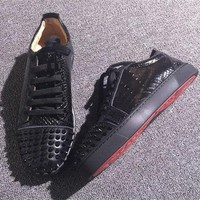 Cl Christian Louboutin Low Style #2058 Sneakers Fashion Shoes - Sale