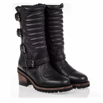 Ash Strike Womens Boot Black Leather 340649 (001)