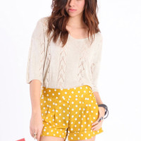 In the Spotlight Polka Dot Shorts - $33.00 : ThreadSence.com, Your Spot For Indie Clothing & Indie Urban Culture