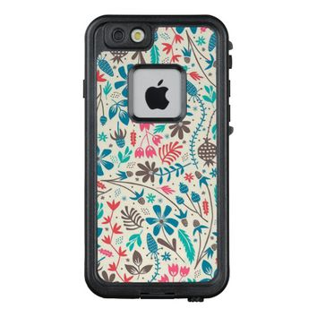 Retro Floral Pattern LifeProof® FRĒ® iPhone 6/6s Case