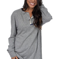 Lauren James: The Boyfriend Tee {Grey}