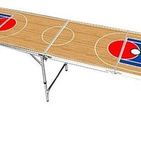 Basketball Design Beer Pong Table 8 FEET - Premium HD Graphic