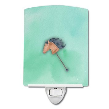 Stick Horse Watercolor Ceramic Night Light BB7366CNL