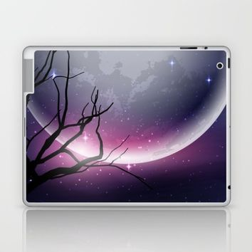 Face of the Moon Laptop & iPad Skin by Texnotropio