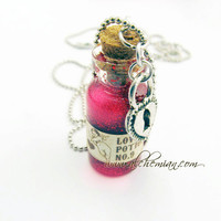 5 Bottle Potions Collection Necklace Harry potter by AlchemianShop