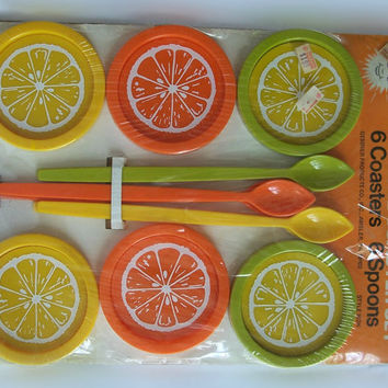 Vintage Sunshine Coaster set Unopened complete in original package