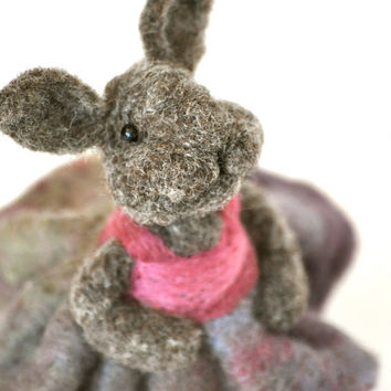 Needle felted Bunny  by BearCreekDesign
