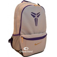 """Nike Kobe Baller Max Air 15"""" Laptop Backpack in Gray and Purple"""