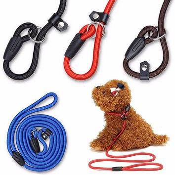 Newest 4 Colors Pet Dog Puppy Training Leash Traction Lead Rope Belt & Adjustable Collar