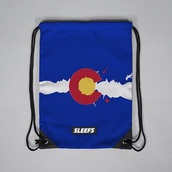 Colorado Flag Drawstring Bag