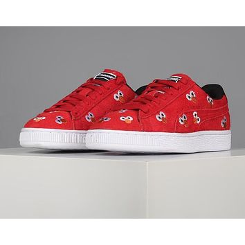 Puma X Sesame Street Red Suede Sneakers
