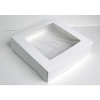25 Bakery Boxes - White with Window