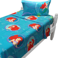 Little Mermaid Twin Sheet Set Princess Waves Bedding