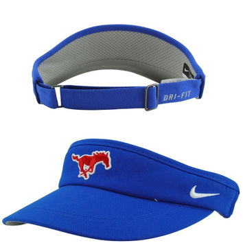 SMU Mustangs Nike Sideline Dri-FIT Adjustable Performance Visor – Royal Blue