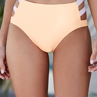 LA Hearts Thick Strap High Waisted Bikini Bottom at PacSun.com