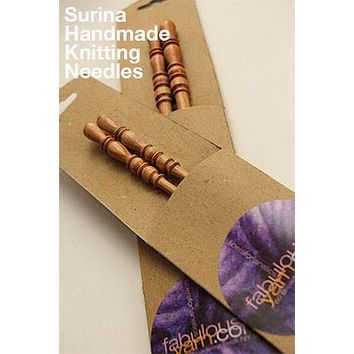 Surina Wood Knitting Needles (Single Point)