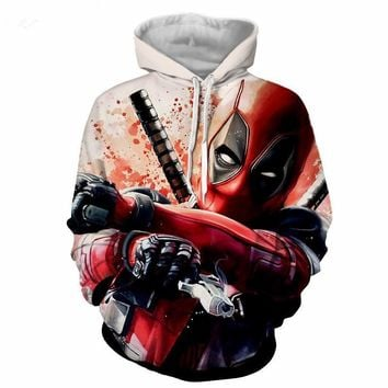 Deadpool Dead pool Taco  2 3D Print Avengers 3 Superhero Movie Iron Man Infinite War Cos Marvel Movie Super Hero Hood  Zip Loose Hoodie AT_70_6