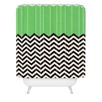 Bianca Green This Way Shower Curtain
