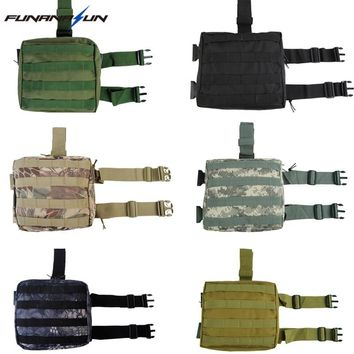Tactical Military Leg Pouch Dump Drop Molle Hunting Bag Thigh Panel Utility Airsoft Paintball Quick Release Magazine Carrier Bag