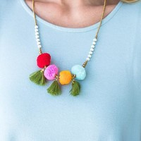 Shake Your Pom Pom Necklace