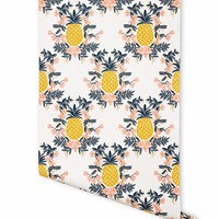 Pineapple (Sorbet) Wallpaper by RIFLE PAPER Co. | Made in USA