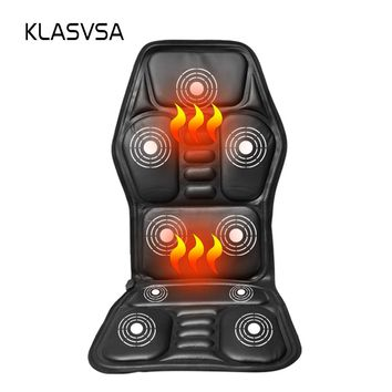 Heated Back Massage Seat Topper Car Home Office Seat Massager Heat Vibrate Cushion Back Neck Massage Chair Massage Relaxation
