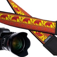 Camera strap with Lucky Elephant. Ethnic camera strap. DSLR / SLR Camera Strap. Photographer gift. Etsy gifts by InTePro