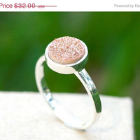 Boxing Day Sale Geode Ring,Agate Ring,Drusy Ring,Druzy Ring,Drusy Quartz,Statement ring,Cocktail ring