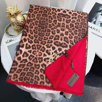 Louis Vuitton LV Winter New Popular Women Stylish Leopard Grain Cashmere Cape Scarf Scarves Shawl Accessories