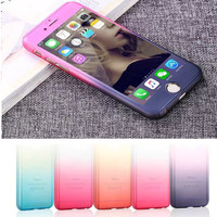 Ombre Front and Back Phone Case For iPhone For iPhone 6 6S 6Plus