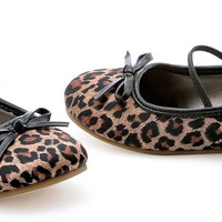 Leopard Ballet Flat Child Shoes