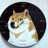 Wow such doge, much unique, so vinyl record clock
