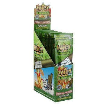 Juicy Hemp Blunt Wraps - Tropical Passion (Box of 50)