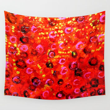 Aboriginal Art - Finger Painting Wall Tapestry by Chris' Landscape Images & Designs