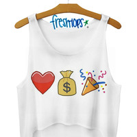 Girls Love Money Crop Top