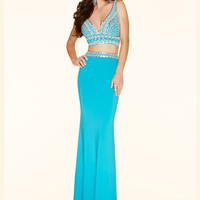Two Piece Jeweled Paparazzi Prom Dress 98121