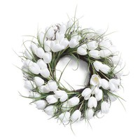 "21"" White Tulip Wreath"