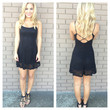 Black Loretta Skater Lace Dress