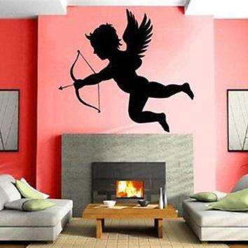 Cupid the Roman God of Love Romantic Decor Wall Mural Vinyl Art Sticker M196