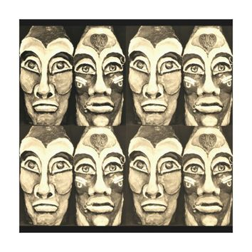 Mayan warriors canvas print